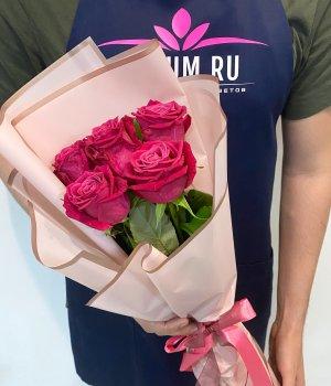 Букет из 5 роз Шангрила (50 см ) #1842