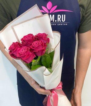 Букет из 5 роз Шангрила (50 см ) #2115