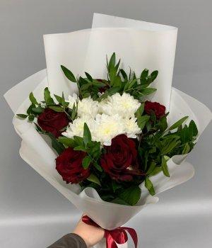 Микс из роз и хризантемы #2137