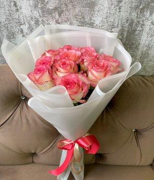 Букет из 11 роз Джумилия ( 50 см) #1687